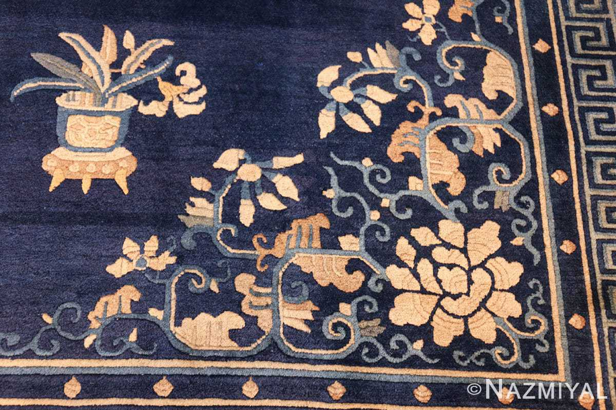 room size navy background antique chinese rug 49474 design Nazmiyal