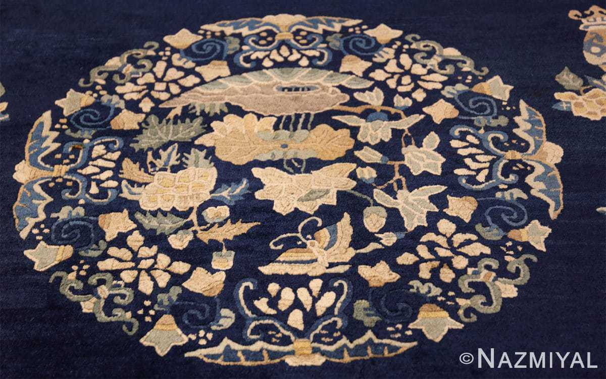 room size navy background antique chinese rug 49474 medallion Nazmiyal