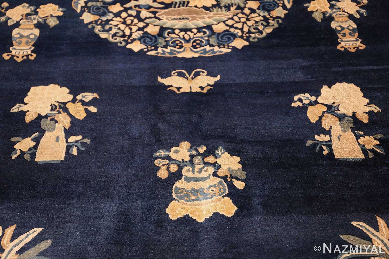 room size navy background antique chinese rug 49474 middle Nazmiyal