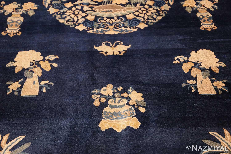 room size navy background antique chinese rug 49474 middle Nazmiyal