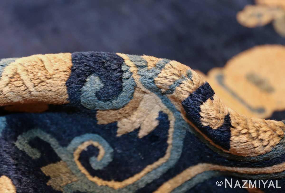 room size navy background antique chinese rug 49474 pile Nazmiyal