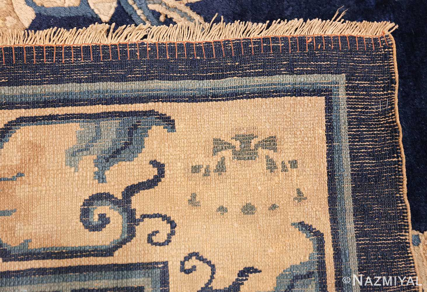 room size navy background antique chinese rug 49474 weave Nazmiyal