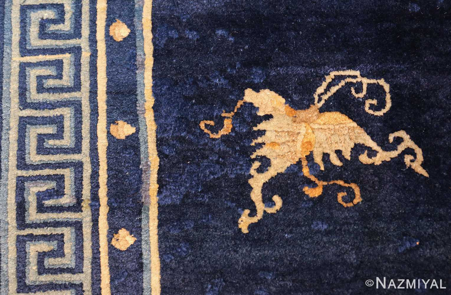 room size navy background antique chinese rug 49474 wings Nazmiyal