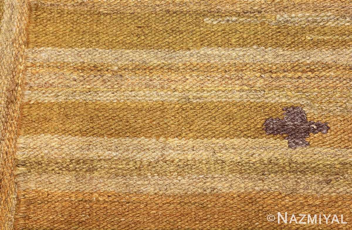 room size vintage scandinavian kilim rug 49269 knots Nazmiyal