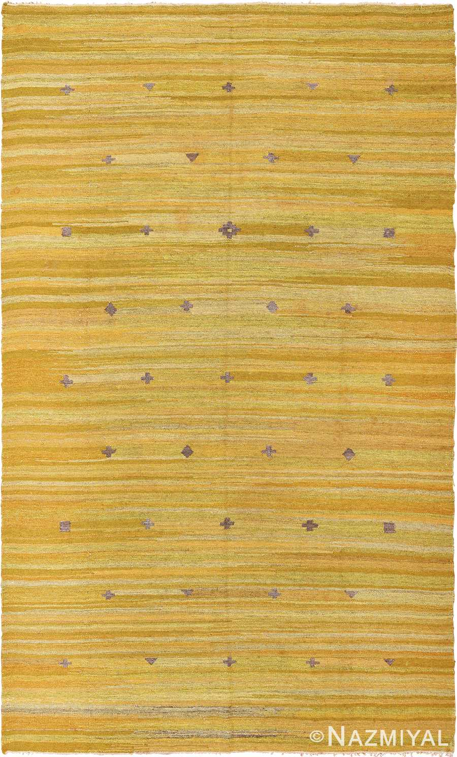 room size Vintage Scandinavian Kilim Rug 49269 Nazmiyal