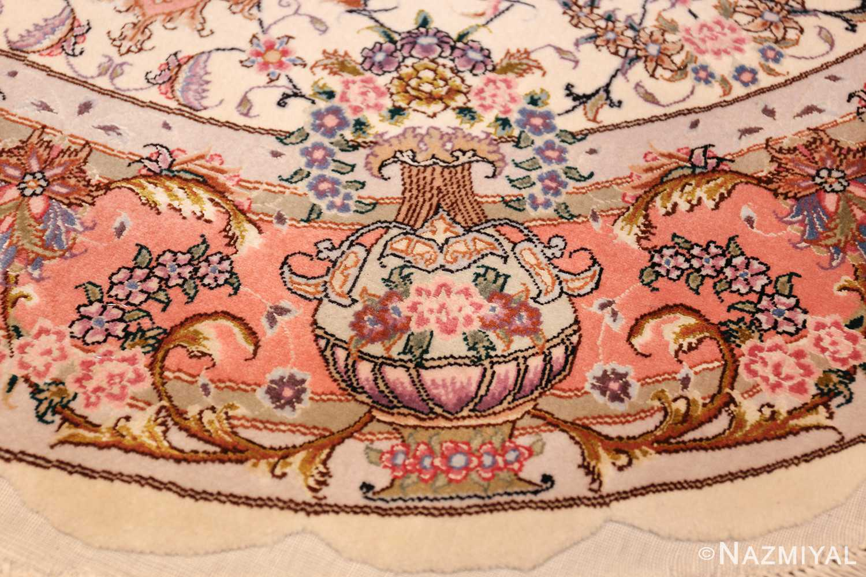 round silk and wool tabriz persian rug 49558 border Nazmiyal