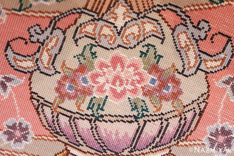 round silk and wool tabriz persian rug 49558 knots Nazmiyal