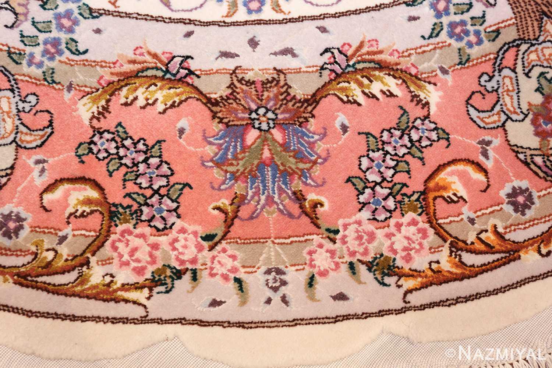 round silk and wool tabriz persian rug 49558 sign Nazmiyal