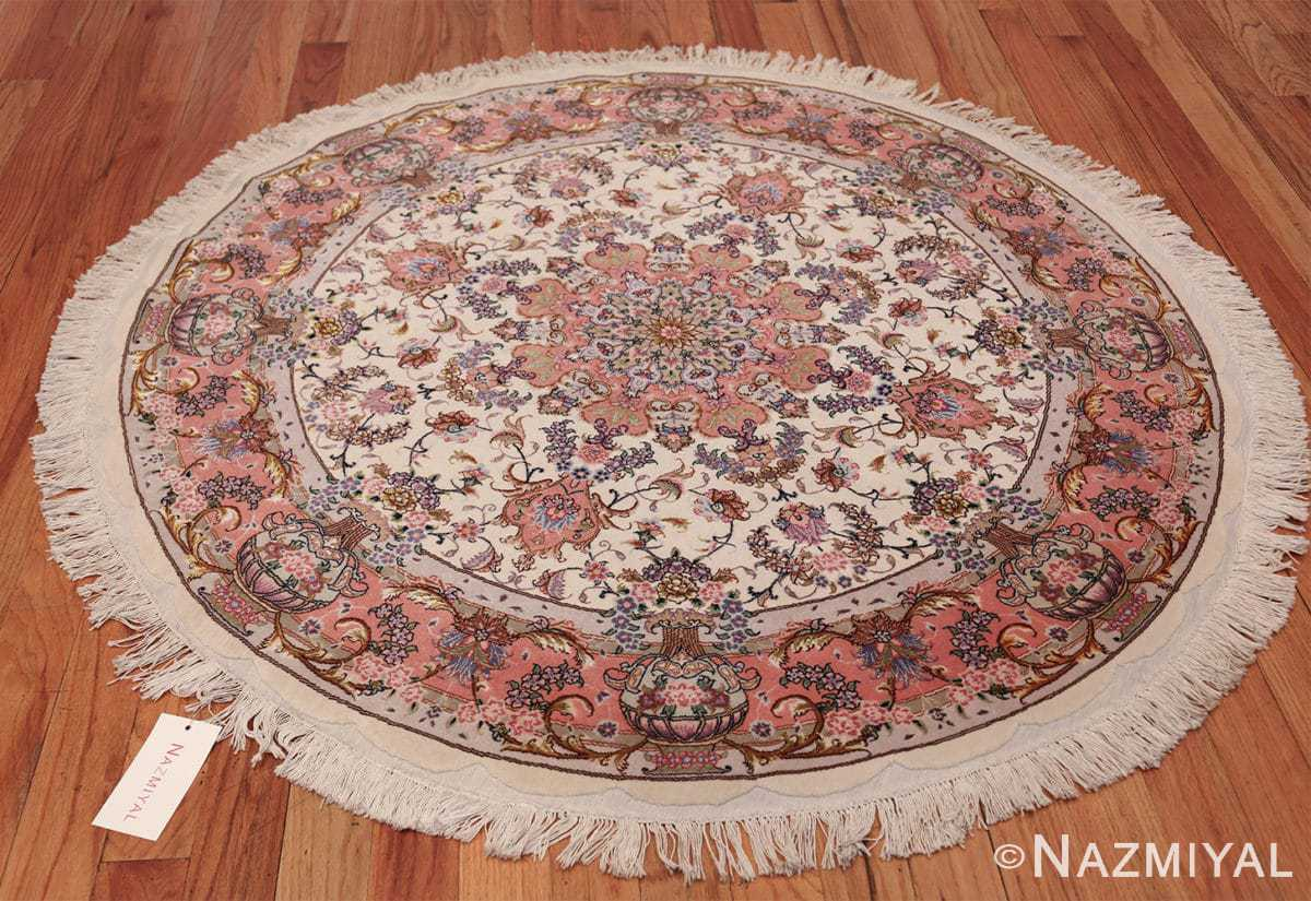 round silk and wool tabriz persian rug 49558 whole Nazmiyal