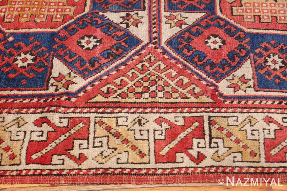 small scatter size tribal antique bergama turkish rug 49506 border Nazmiyal