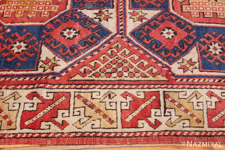 small scatter size tribal antique bergama turkish rug 49506 border Nazmiyal