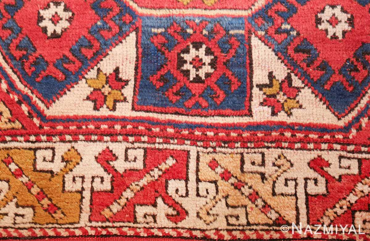 small scatter size tribal antique bergama turkish rug 49506 closeup Nazmiyal