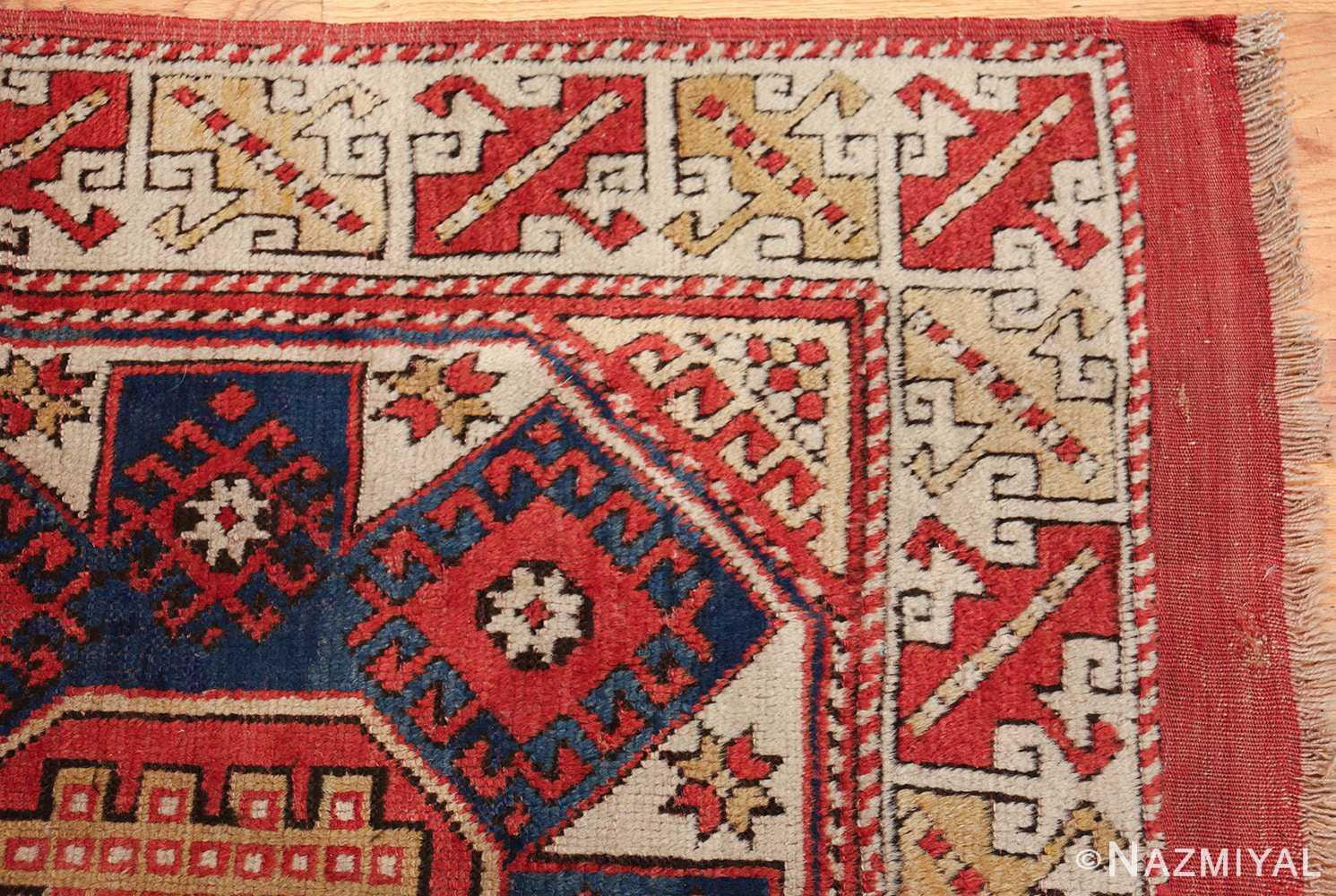 small scatter size tribal antique bergama turkish rug 49506 corner Nazmiyal