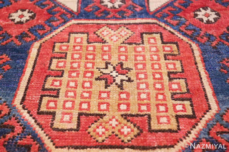 small scatter size tribal antique bergama turkish rug 49506 gold Nazmiyal