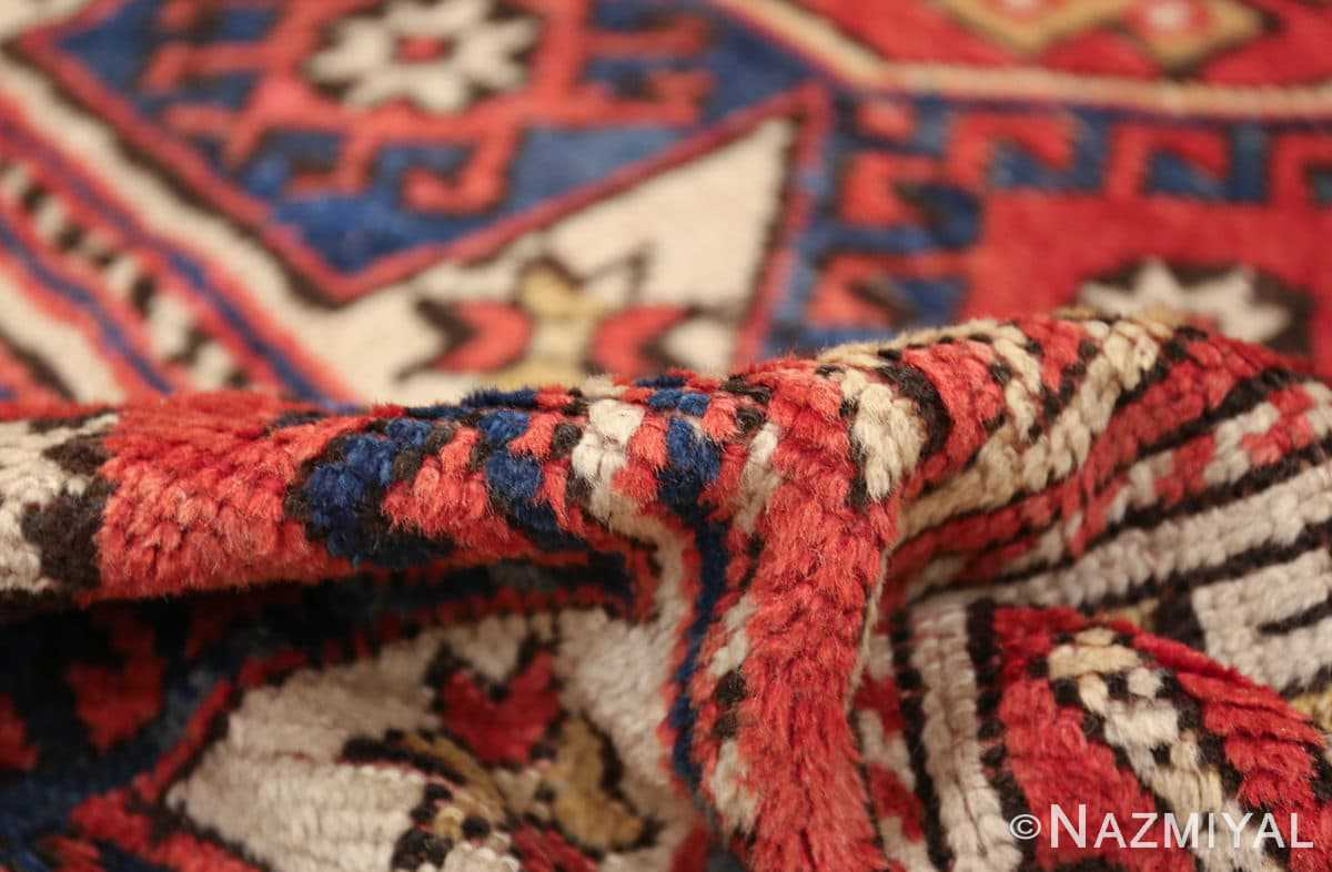 small scatter size tribal antique bergama turkish rug 49506 pile Nazmiyal