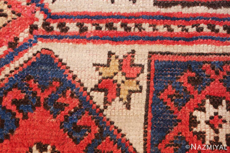 small scatter size tribal antique bergama turkish rug 49506 star Nazmiyal