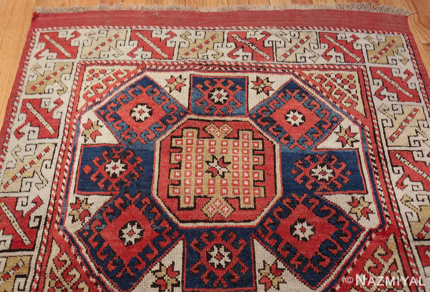 small scatter size tribal antique bergama turkish rug 49506 top Nazmiyal