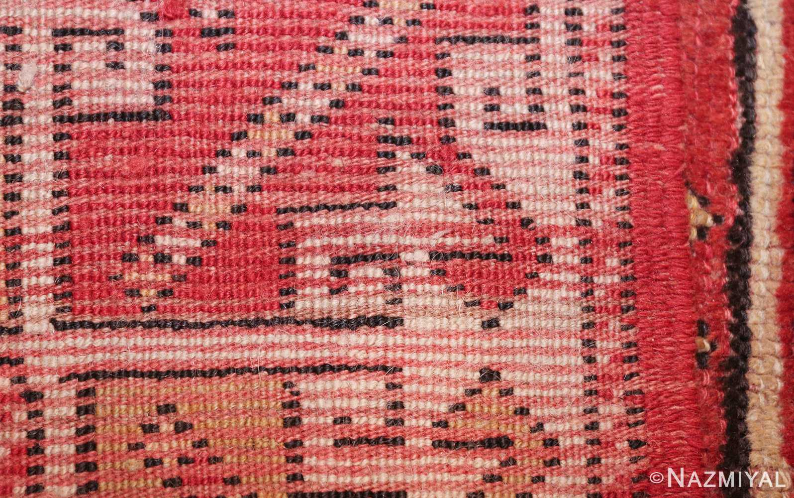 small scatter size tribal antique bergama turkish rug 49506 weave Nazmiyal