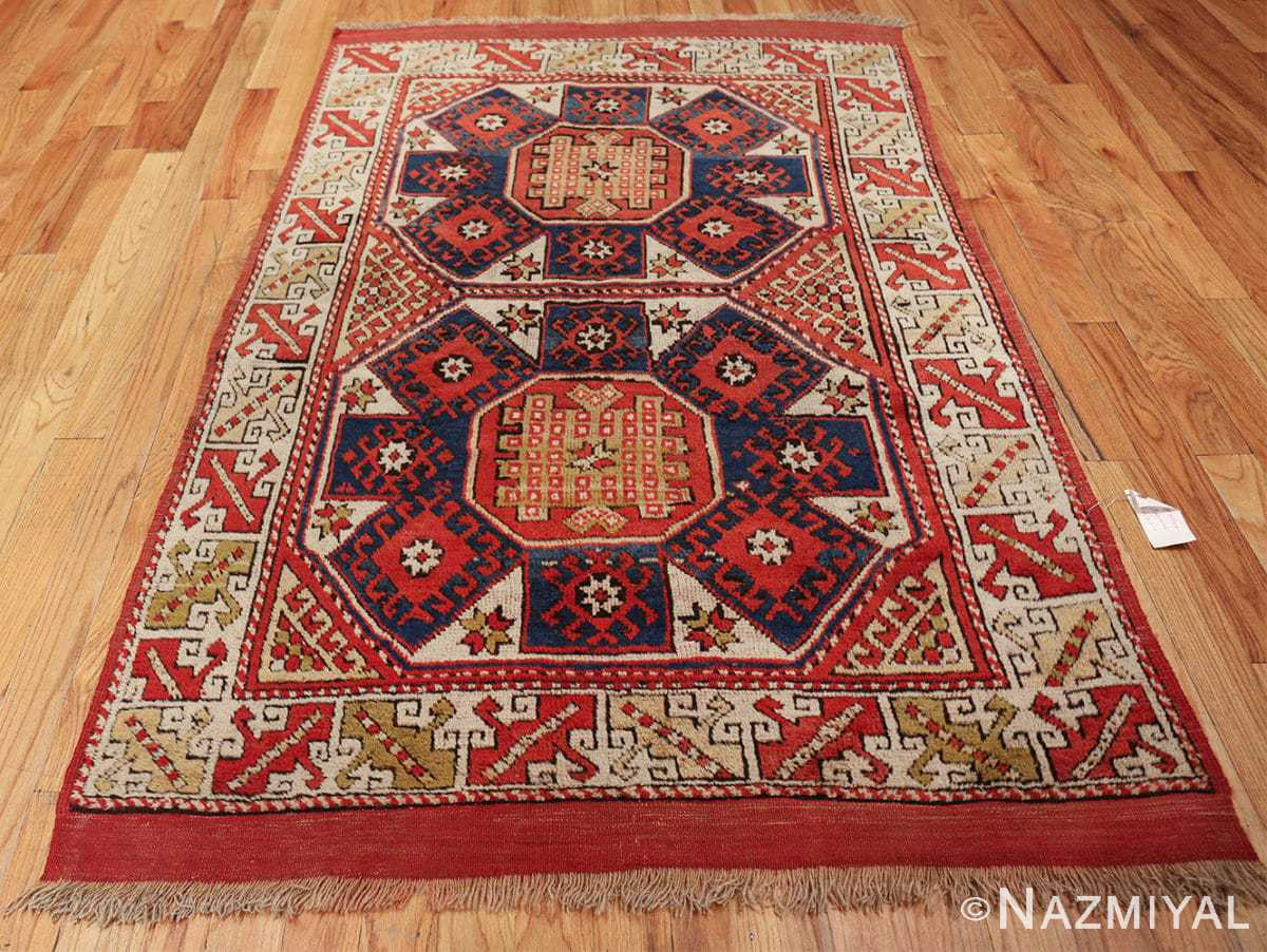 small scatter size tribal antique bergama turkish rug 49506 whole Nazmiyal
