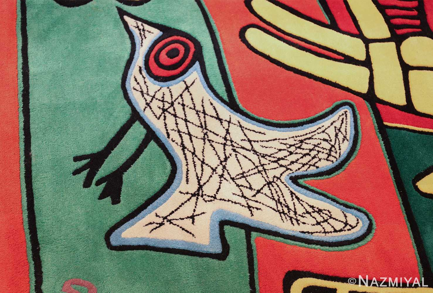 square vintage scandinavian rug by corneille 49544 bird Nazmiyal