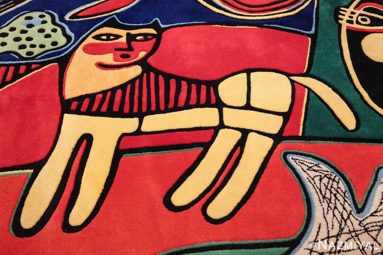 square vintage scandinavian rug by corneille 49544 cat Nazmiyal