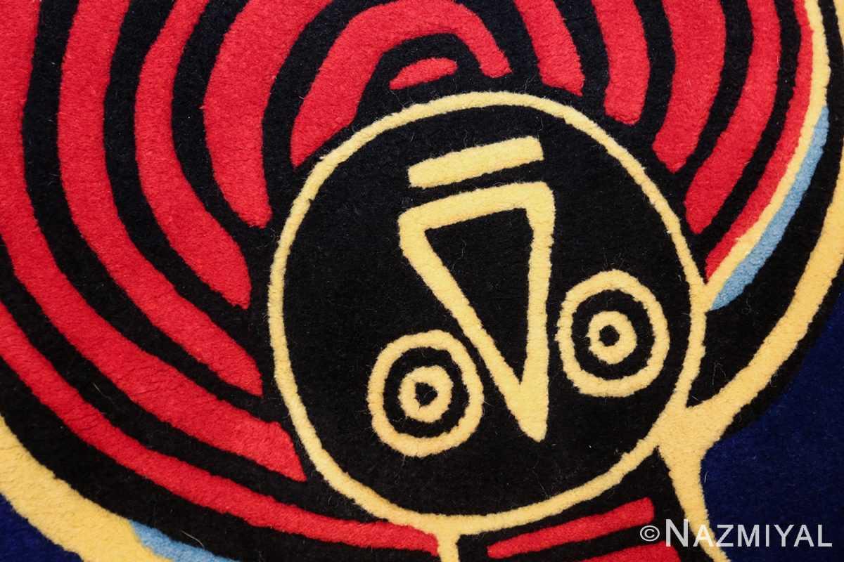 square vintage scandinavian rug by corneille 49544 nose azmiyal