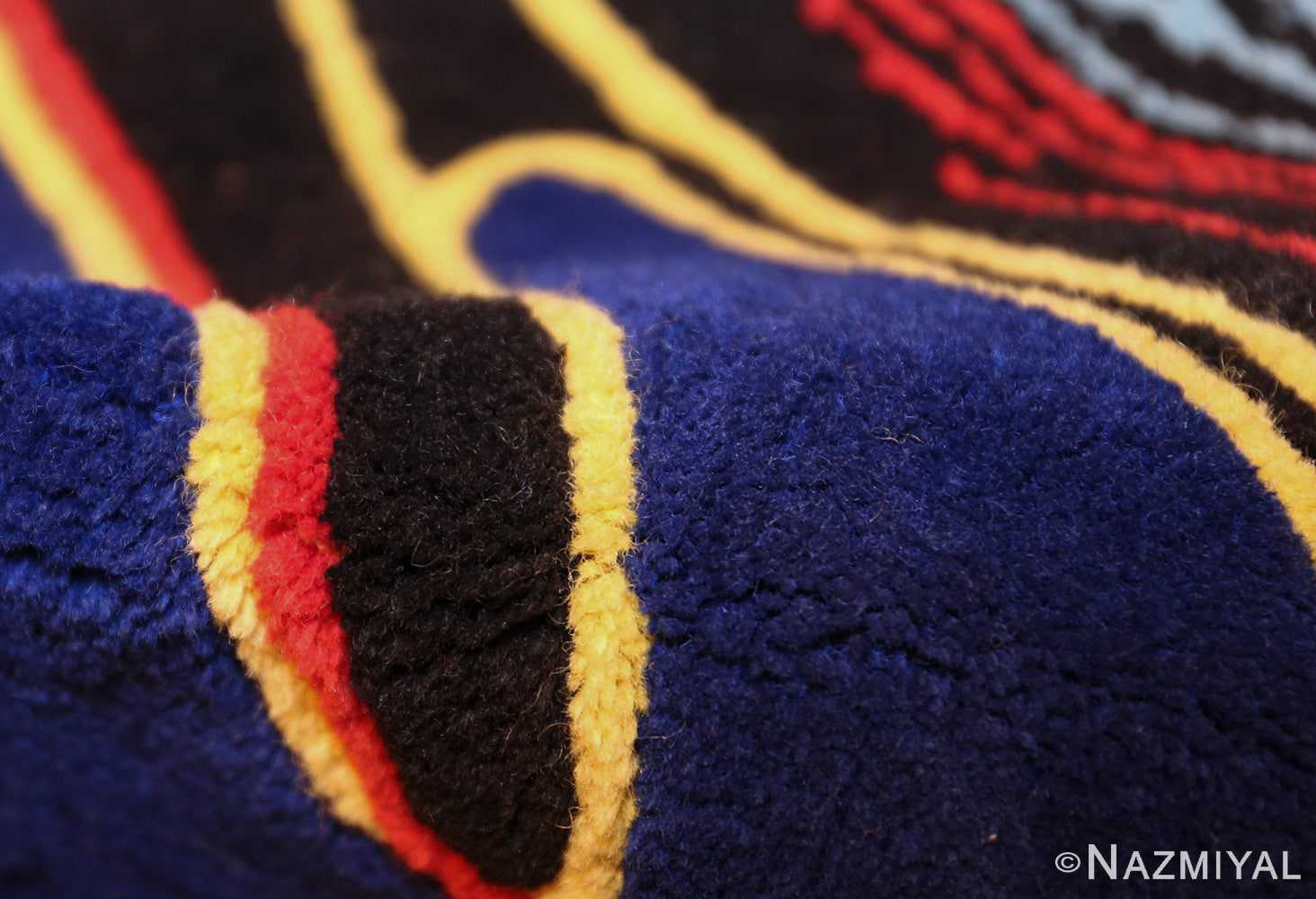 square vintage scandinavian rug by corneille 49544 pile Nazmiyal