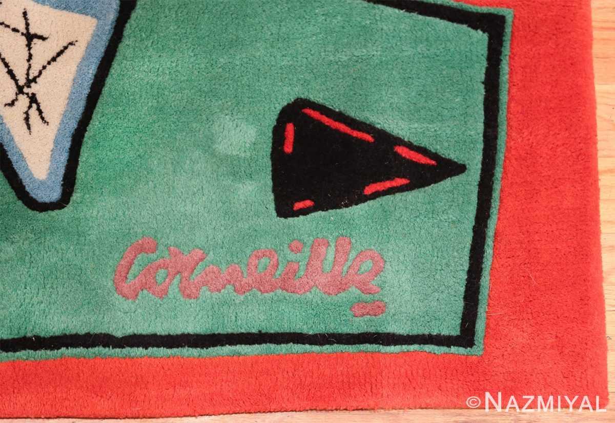 square vintage scandinavian rug by corneille 49544 signature Nazmiyal