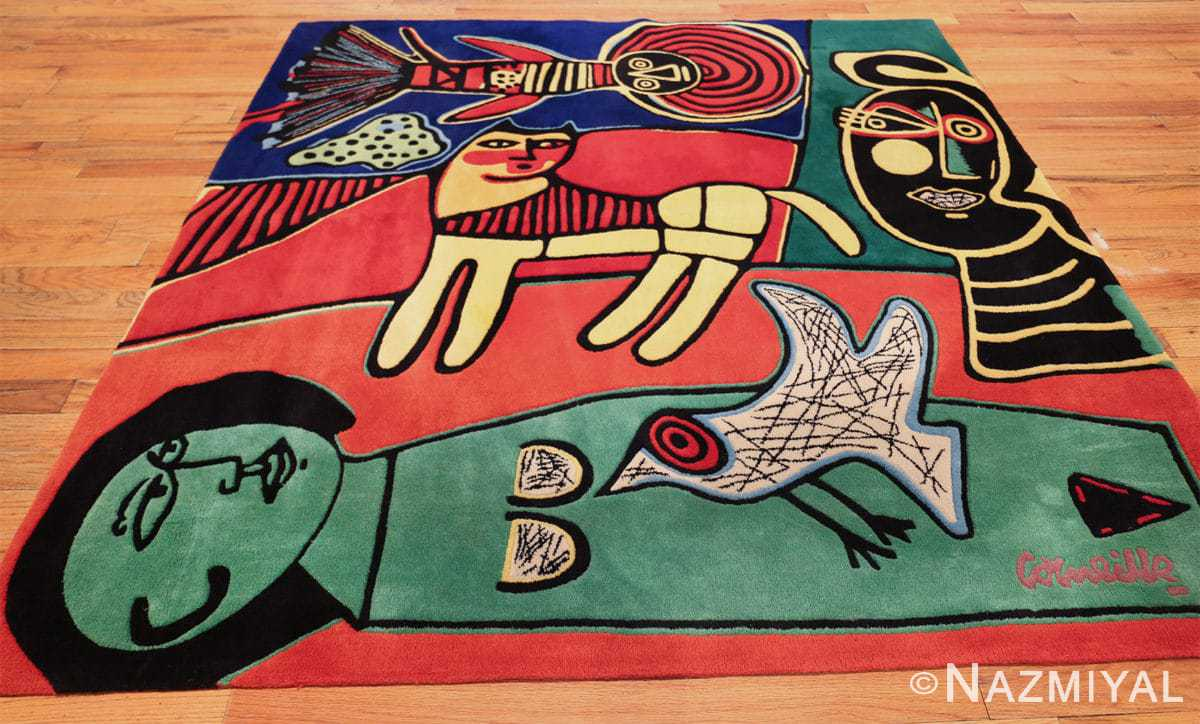 square vintage scandinavian rug by corneille 49544 whole azmiyal