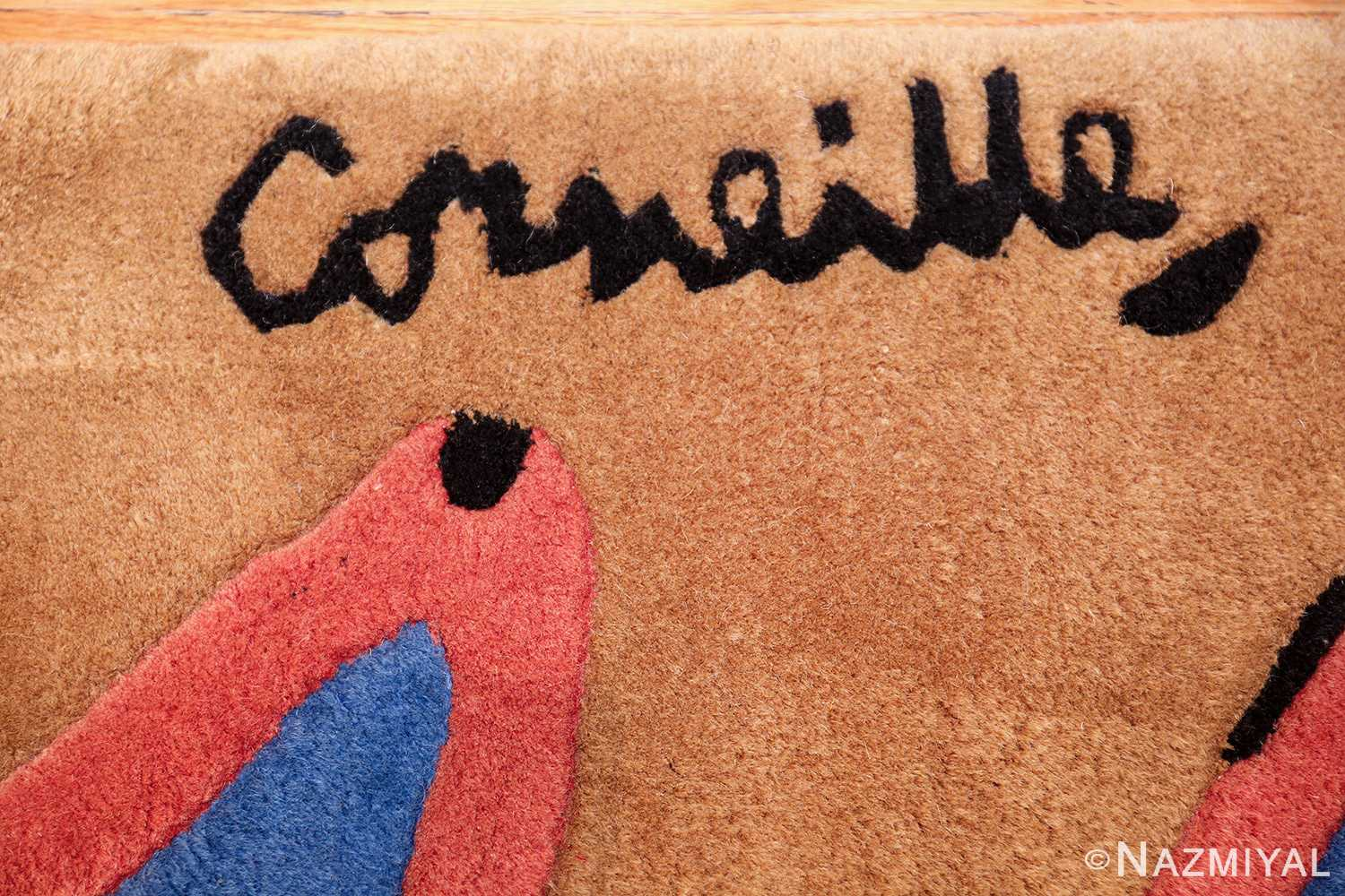 vintage scandinavian rug by corneille 49543 signature Nazmiyal