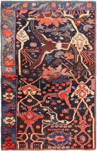Small Collectible Antique Persian Bidjar Sampler Rug 49510 by nazmiyal
