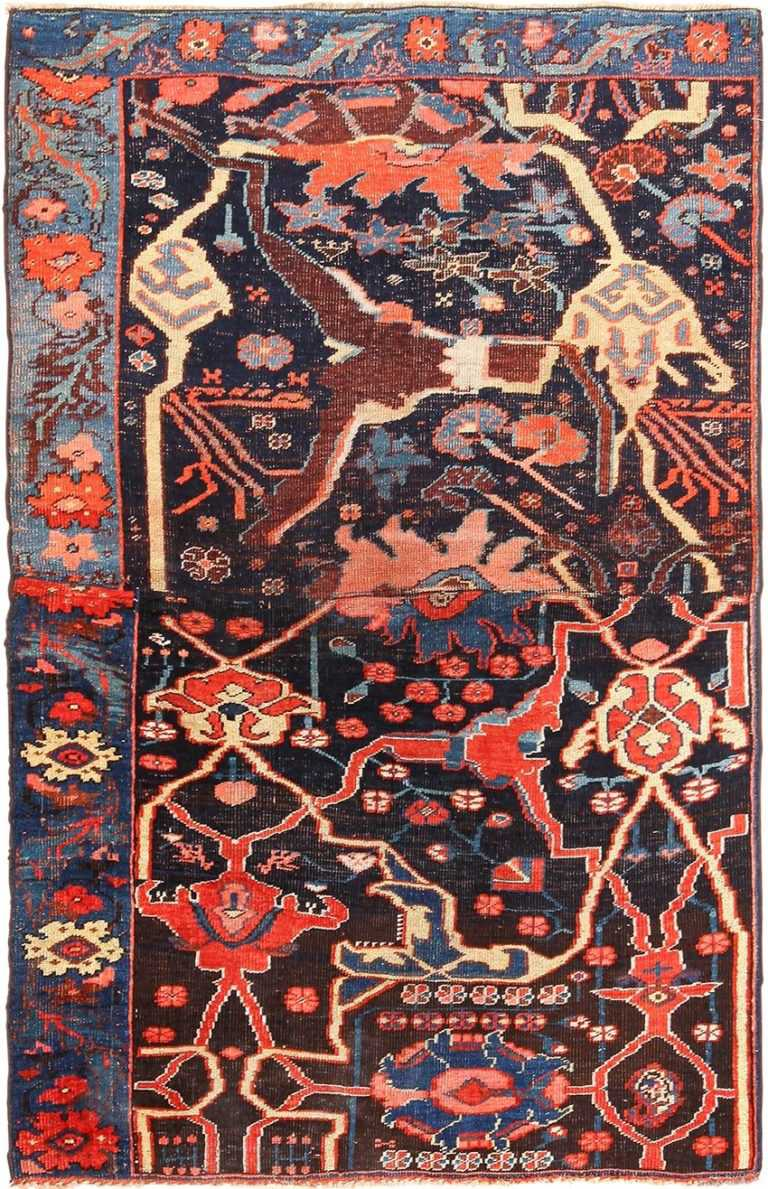 Small Collectible Antique Persian Bidjar Sampler Rug 49510 by nazmiyal