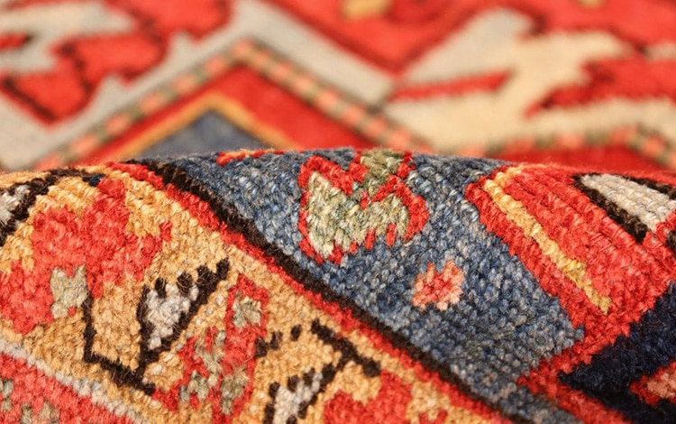 Beautiful Colors Of Antique Persian Heriz Rugs by nazmiyal