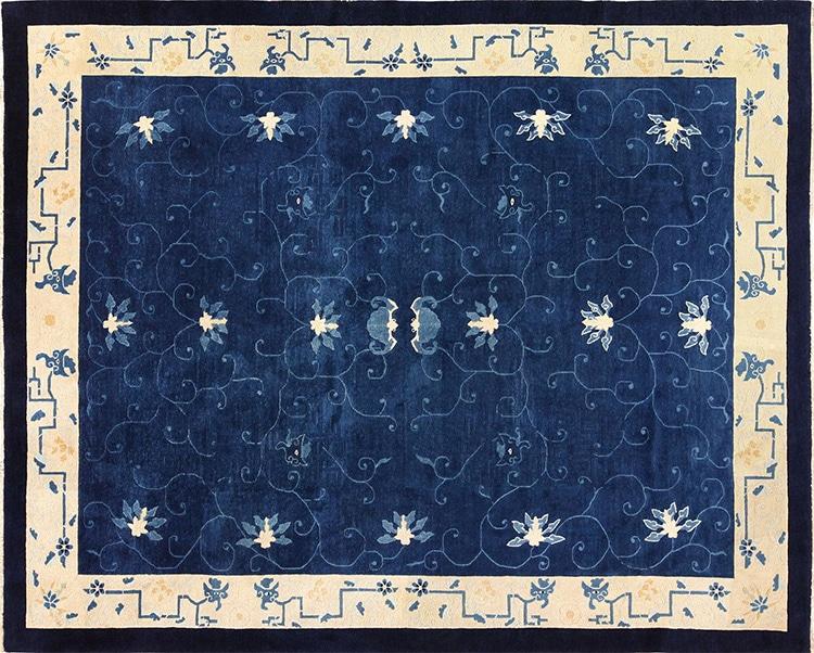 Blue Chinese Rug #49272 by nazmiyal