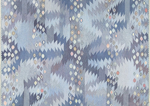 Beautiful Blue Vintage Rugs by nazmiyal
