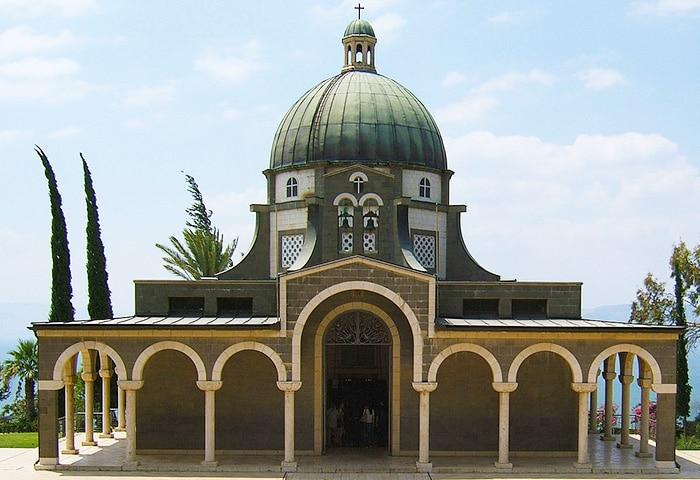 Church of the Beatitudes Sea Of Galilee Israel by Nazmiyal