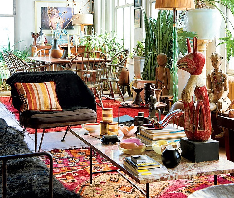 Colorful Bohemian Decor With Boho Rugs by nazmiyal