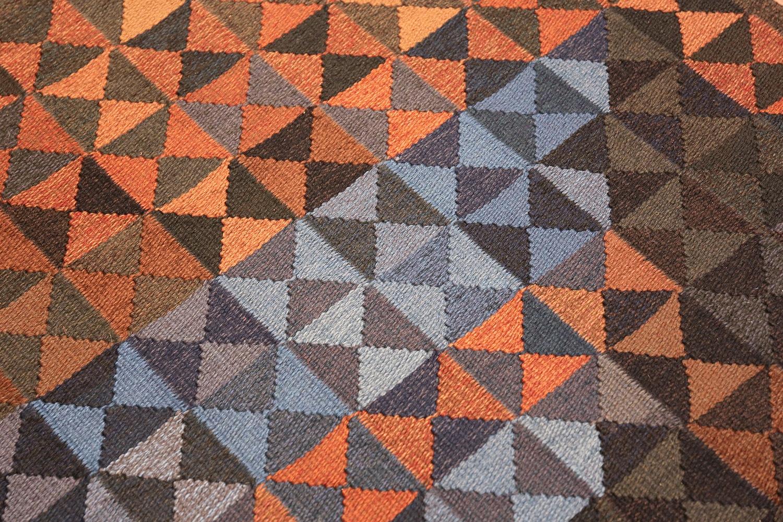 geometric vintage scandinavian rug by kristianstad lans hemslöjd 49587 color Nazmiyal