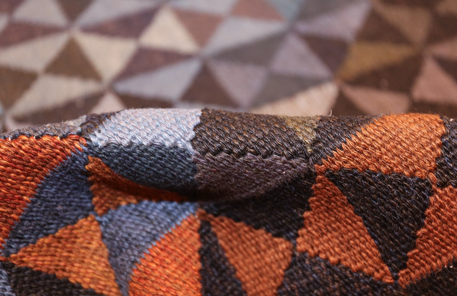 geometric vintage scandinavian rug by kristianstad lans hemslöjd 49587 pile Nazmiyal