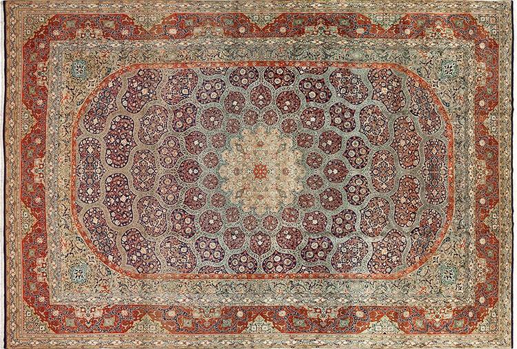Indigo Blue Vintage Persian Rug #51124 by Nazmiyal