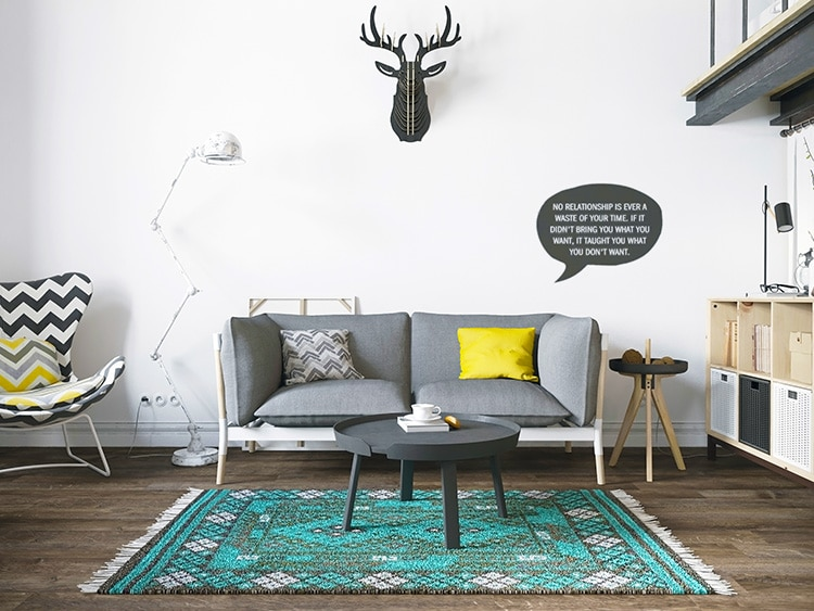 Minimalist Scandinavian Boho Chic Interior Design by Nazmiyal