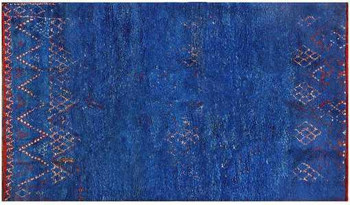 Moroccan Blue Vintage Rugs by nazmiyal
