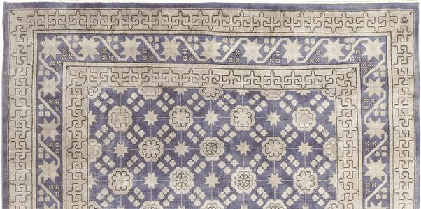 Antique Ultraviolet Khotan Rug 48783