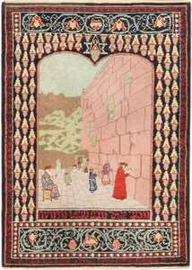small size antique marbediah israeli rug 49589 Nazmiyal
