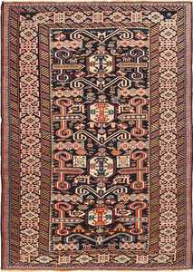 Small Size Antique Tribal Perpedil Caucasian Rug 49540 by Nazmiyal