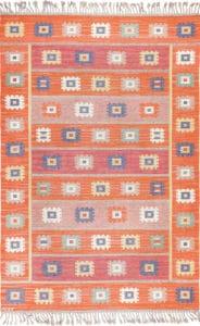 Vintage Boho Scandinavian Kilim Rug by Nazmiyal