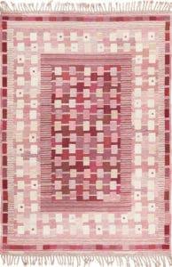 Vintage Flat Woven Boho Scandinavian Kilim Rug by Nazmiyal