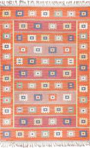 Vintage Flat Woven Scandinavian Marta Maas Kilim Rug 49568 By Nazmiyal