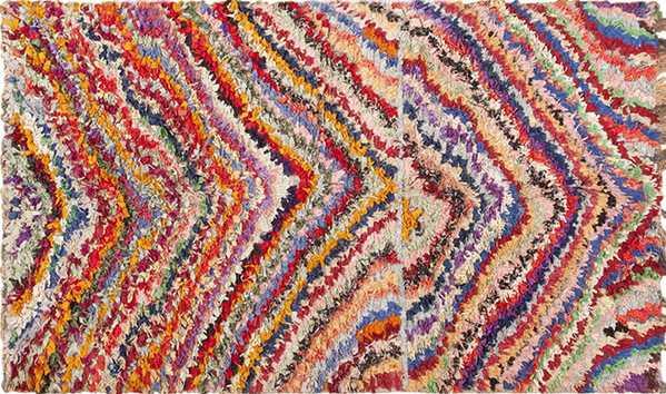 Vintage Moroccan Boucherouite Rug by nazmiyal