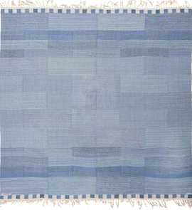 A Square Vintage Marta Maas Swedish Kilim Rug by Marianne Richter 49576 by Nazmiyal